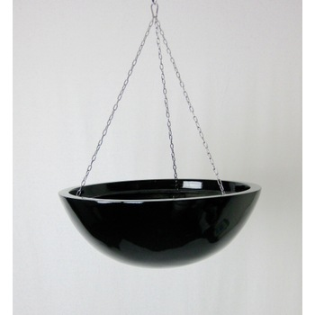 Gloss Black Fibreglass Hanging Basket