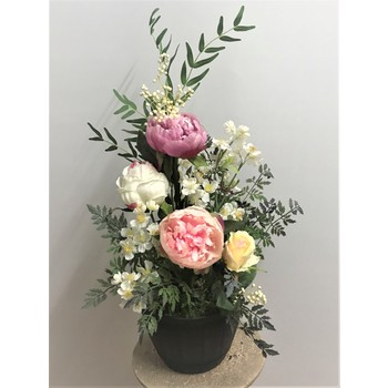 Peony Roses in Barrel