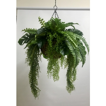 Mixed Greenery Deluxe Hanging Basket